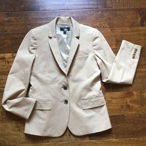 J.Crew Thompson Blazer 2-way Stretch Cotton Khaki